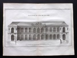 Blondel 1737 Folio Architecture Print. Elevation du Cote de Lentree